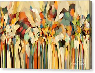 Christian Art- Angels Guiding Lot. Genesis 19 15 Canvas Print by Mark Lawrence