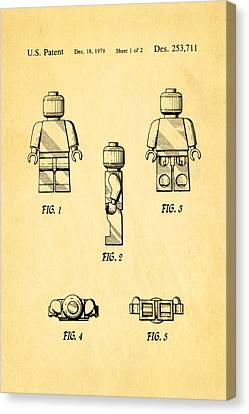 Christiansen Lego Figure 2 Patent Art 1979 Canvas Print by Ian Monk