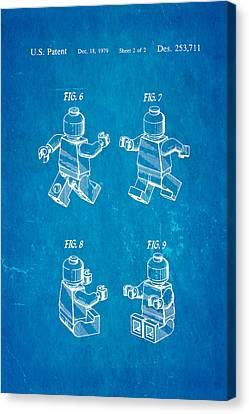 Christiansen Lego Figure 3 Patent Art 1979 Blueprint Canvas Print by Ian Monk