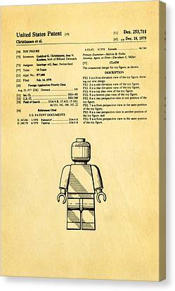 Christiansen Lego Figure Patent Art 1979 Canvas Print by Ian Monk