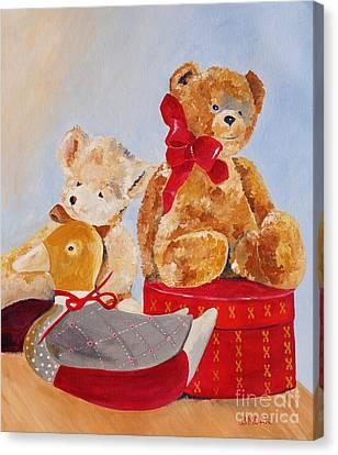 Christmas Greeting Canvas Print by Barbara Moak
