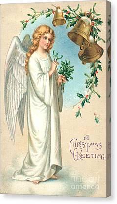 Christmas Angel Canvas Print by English School