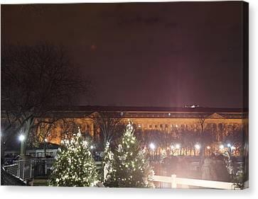 Christmas At The Ellipse - Washington Dc - 01134 Canvas Print by DC Photographer
