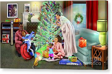Christmas Back In Da Day Canvas Print by Reggie Duffie