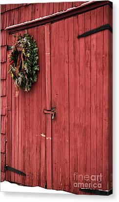 Christmas Barn Canvas Print by John Rizzuto
