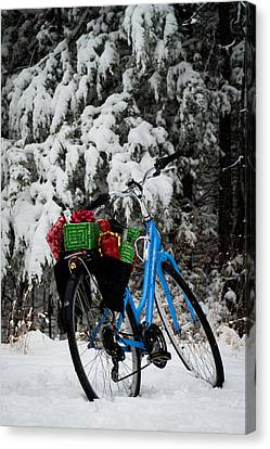 Christmas Bike Canvas Print by Wayne Meyer
