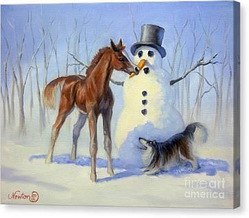 Christmas Bounty Canvas Print by Jeanne Newton Schoborg