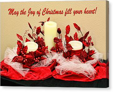 Christmas  Candels Canvas Print by Linda Phelps