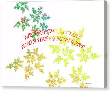 Christmas Card I Canvas Print by Tatjana Popovska