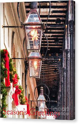Christmas Card New Orleans Canvas Print by Kathleen K Parker