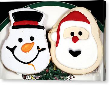 Christmas Cookies Canvas Print by John Rizzuto