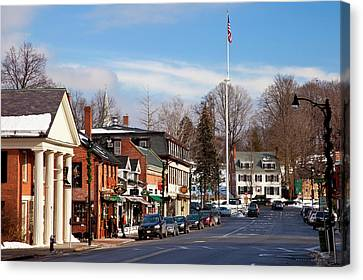 Christmas Day On Main Street, Concord Canvas Print by Brian Jannsen