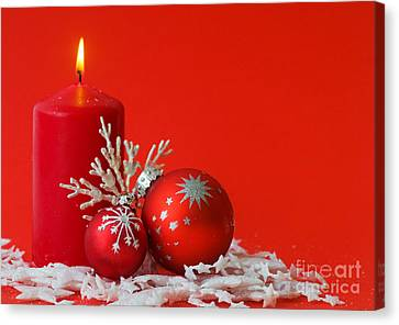 Christmas Decoration Background Canvas Print by Michal Bednarek
