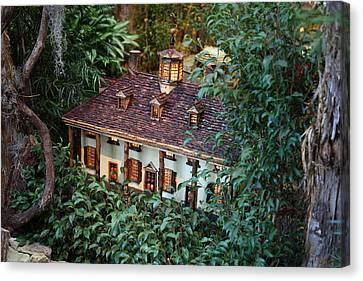 Christmas Display - Us Botanic Garden - 011342 Canvas Print by DC Photographer