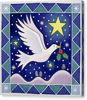 Christmas Dove  Canvas Print by Cathy Baxter