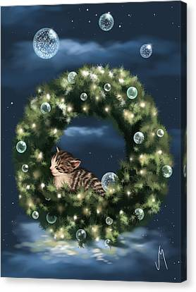 Christmas Dream Canvas Print by Veronica Minozzi