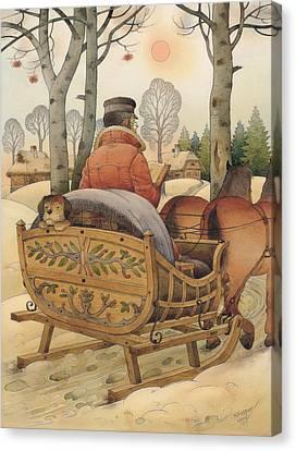 Christmas Eve Canvas Print by Kestutis Kasparavicius