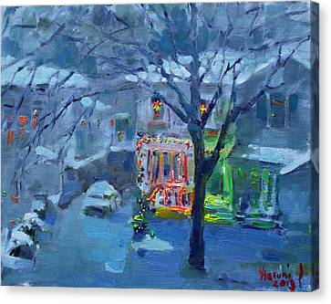 Christmas Eve Canvas Print by Ylli Haruni