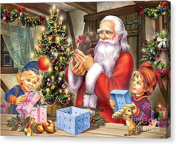 Christmas Eve Canvas Print by Zorina Baldescu