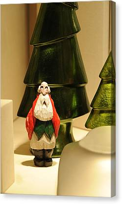 Christmas Figurine I Canvas Print by Harold E McCray