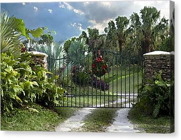 Christmas Gate Canvas Print by Robert Smith