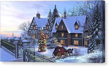 Christmas Homecoming Canvas Print by Dominic Davison