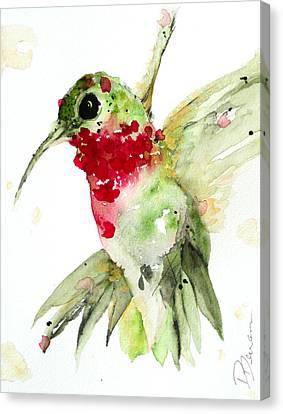 Christmas Hummer Canvas Print by Dawn Derman