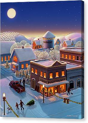 Christmas In Harmony Canvas Print by Robin Moline