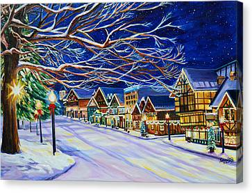Christmas In Leavenworth Canvas Print by Suzanne King