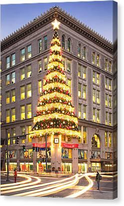 Christmas In Pittsburgh  Canvas Print by Emmanuel Panagiotakis