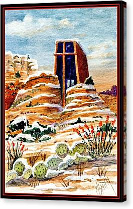 Christmas In Sedona Canvas Print by Marilyn Smith