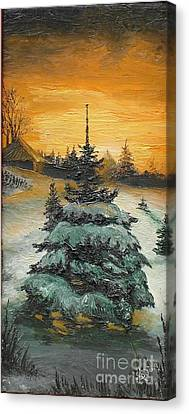Christmas Is Coming Canvas Print by Sorin Apostolescu