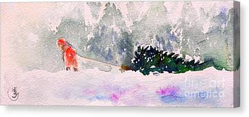 Christmas Is Coming Canvas Print by Yoshiko Mishina