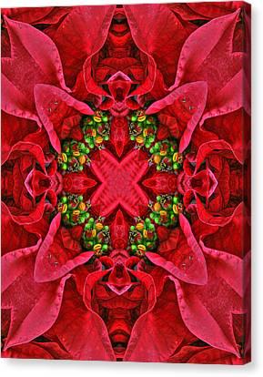 Christmas Kaleidoscope IIi Canvas Print by Dawn Currie