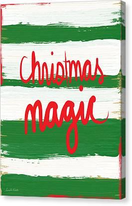 Christmas Magic - Greeting Card Canvas Print by Linda Woods