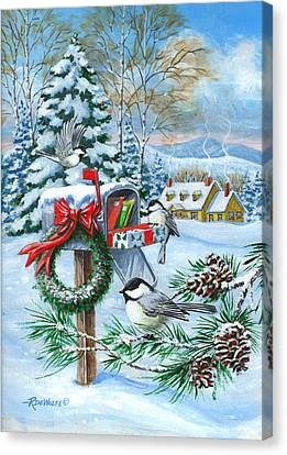 Christmas Mail Canvas Print by Richard De Wolfe