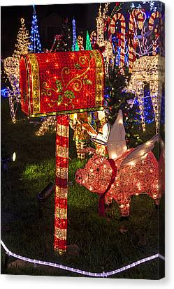 Christmas Mailbox Canvas Print by Garry Gay