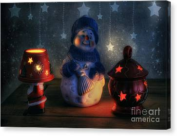 Christmas Ornaments Canvas Print by Ian Mitchell