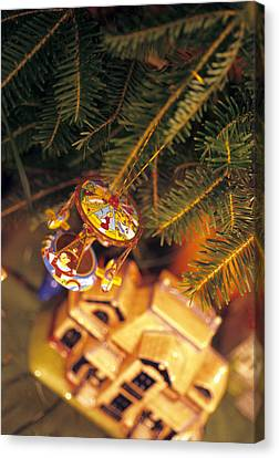 Christmas Ornaments IIi Canvas Print by Harold E McCray