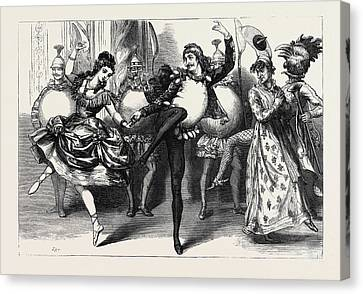 Christmas Pantomimes And Extravaganzas Harlequin Humpty Canvas Print by English School