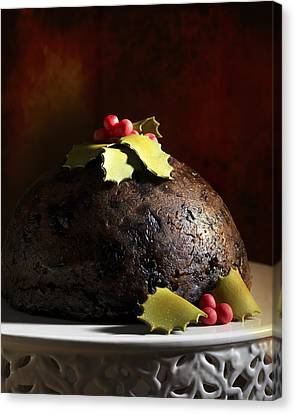 Christmas Pudding Canvas Print by Amanda And Christopher Elwell