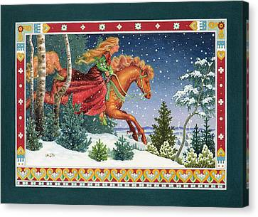 Christmas Ride Canvas Print by Lynn Bywaters