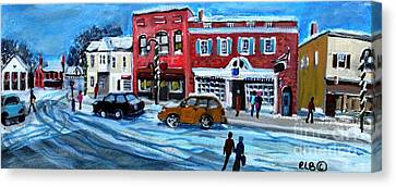 Christmas Shopping In Concord Center Canvas Print by Rita Brown