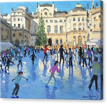 Christmas Somerset House Canvas Print by Andrew Macara