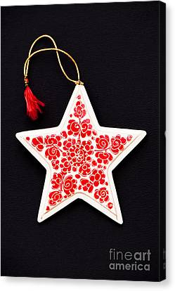 Christmas Star Canvas Print by Anne Gilbert