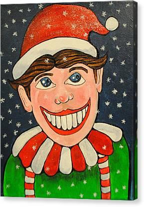Christmas Tillie Canvas Print by Patricia Arroyo