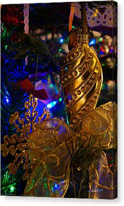 Christmas Tree Detail 2 Canvas Print by Mick Anderson