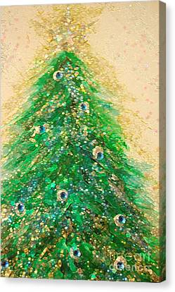 Christmas Tree Gold By Jrr Canvas Print by First Star Art