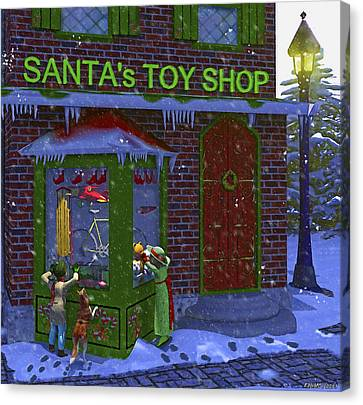 Christmas Window Shopping Canvas Print by Ken Morris