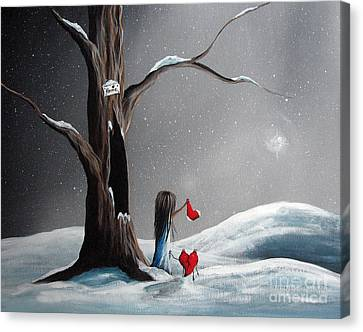 Christmas Wishes By Shawna Erback Canvas Print by Shawna Erback